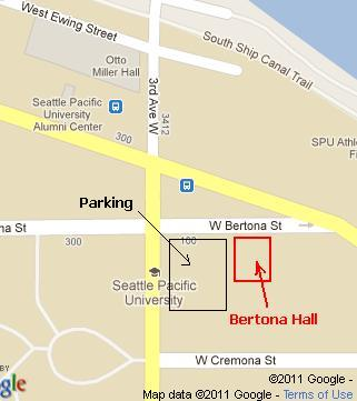 map for Bellevue Arts Museum and parking